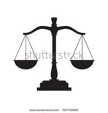 black justice scales icon balance stock vector 587768669