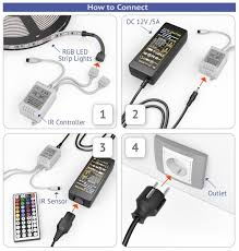 led strip lights remote swaggy led strip lights kit with 24 key remote controller