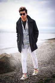 mens beach fashion a winter beach walk alexanderliang com
