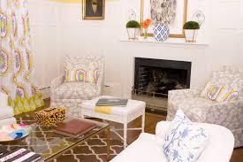 Yellow Fireplace Dana Gibson Living Room Hanover Avenue
