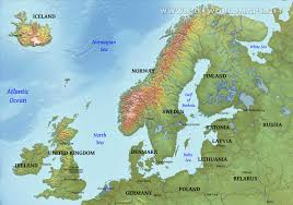 Europe Map With Rivers by Northern Europe Physical Map