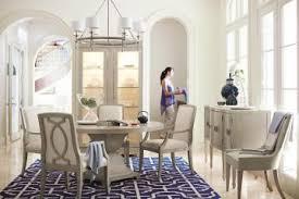bernhardt round dining table bernhardt criteria 5pc round dining table in heather gray by dining