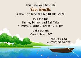retirement invitations fishing retirement party invitations candles and favors