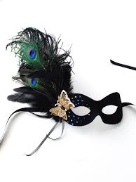 peacock masquerade mask pretty black peacock gold butterfly masquerade mask