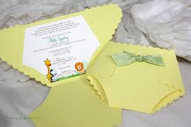 diaper baby shower invitation or baby announcement jungle