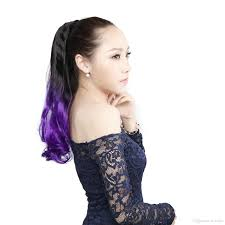 Synthetic Hair Extension by Purple Straight Clip In Ponytail Long Synthetic Hair Extensions