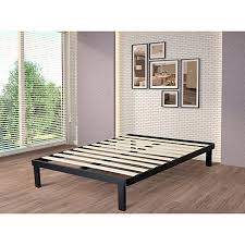 Wood And Metal Bed Frame Intellibase Deluxe Black Metal Platform Bed Frame With