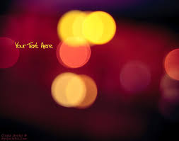 write quote on lights bokeh photo picture