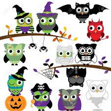 Halloween Owl Clip Art by Collection Of Spooky Halloween Owls Royalty Free Cliparts Vectors