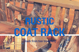 how to make a diy rustic coat rack from tree branches