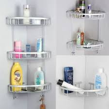 Bathroom Corner Shelves Glass by 3 Tier Shower Bathroom Shelf Corner Rack Organiser Lazada Singapore