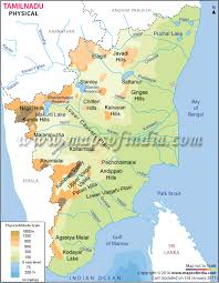 tamil nadu map tamil nadu physical map physical map of tamil nadu