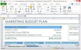 Free Excel Budget Template Budget Plan Monthly Budget Planner Docx Budget Planner Templates