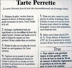 fiche cuisine fiche cuisine tarte perrette au fromage blanc gateaux