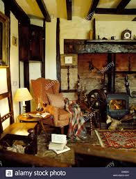 cottage livingrooms traditional country cottage livingroom interior stock photo