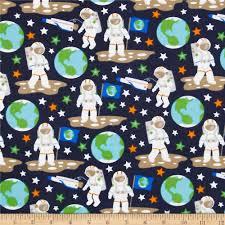 Glow In The Dark Home Decor Flannel Glow In The Dark Astronauts Black Discount Designer