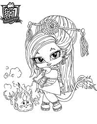monster high coloring pages baby abbey bominable monster high baby coloring pages dessin de monster high doll