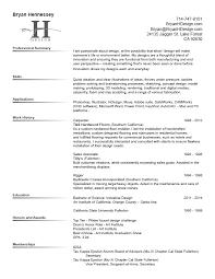 Industrial Design Resume Bryan H Design Resume