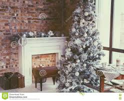 Winter Home Decor Loft Christmas Room Stock Photo Image 77123792