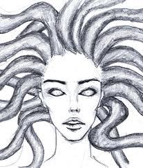medusa quick drawing by ragnahf on deviantart
