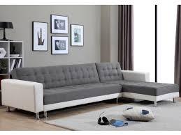 canap d angle blanc et gris canapé d angle convertible réversible microfibre willis