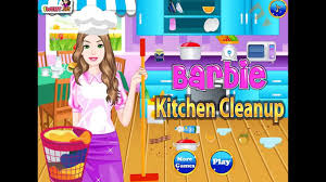 barbie kitchen clean up princess barbie kitchen cleaning game