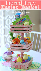 painted easter baskets diy tiered tray easter basket png
