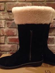 ugg womens karyn boot in box womens 9 eu 40 black ugg boots karyn suede sheepskin