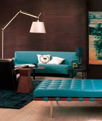 teal livingroom decorating with brown simple