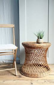 white wicker end table wicker accent table modern great best images about upcycled rattan