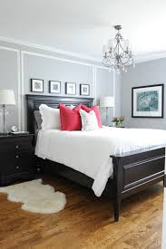 His And Hers Crown Wall Decor Master Bedroom With His And Hers Nightstands Gray Walls White