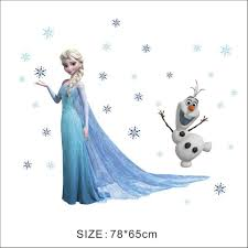 queen elsa frozen wall stickers olaf decorative wall decal cartoon