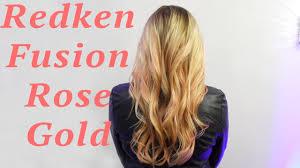 redken strawberry blonde hair color formulas redken fusion rose gold color youtube