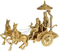 buy gita upadesh brass statue online at low prices in india