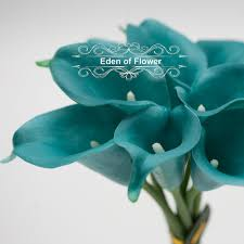 teal corsage real touch oasis teal calla lilies for bridal bouquets wedding