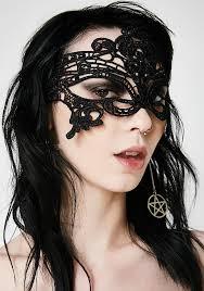 lace mask tie on black lace mask dolls kill