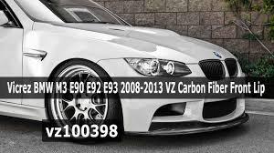 Bmw M3 2008 - vicrez bmw m3 e90 e92 e93 2008 2013 vz carbon fiber front lip
