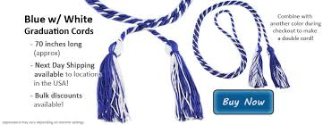 graduation cords cheap royal blue and white graduation cords from honors graduation