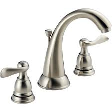 Sink Faucets Lowes Sink Faucets Lowes Shop Delta Brushed Nickel 2 Handle Widespread