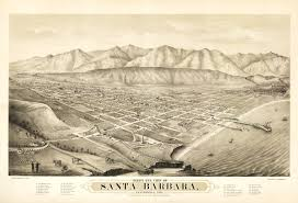 Santa Barbara California Map Vintage Map Santa Barbara California 1877