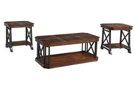 vinasville cocktail table u0026 2 end tables
