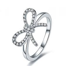 ring plain aliexpress buy butterfly design lovely ring white gold