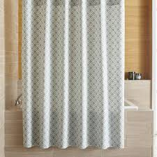 Brown And White Shower Curtains Fabric Shower Curtains Crate And Barrel