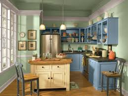 kitchen cabinets painted blue kitchen decoration
