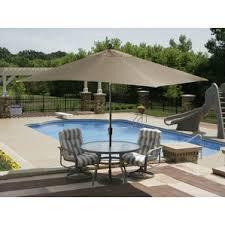 rectangular patio umbrellas you u0027ll love wayfair