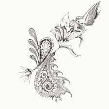 tattoo design rosebud illustration