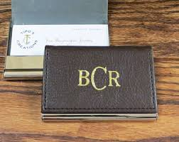 Engraved Leather Business Card Holder Leather Business Card Holder Case Personalized Engraved