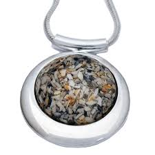 cremation ashes large deluxe memorial necklace made with your loved one s