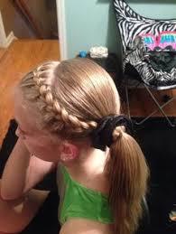 gymnastics picture hair style gymnastics hairstyle dutch braid hairstyles pinterest
