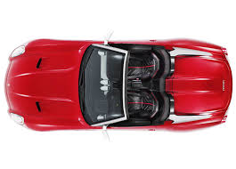vehicle top view ferrari 599 top view